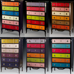 The different versions of our multicolor chiffonier since 2006 1995