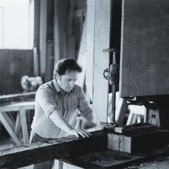 Philippe Auguste making a furniture - 1983 1957