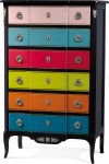 Version 2014 Multicolored Chiffonier 6 drawers