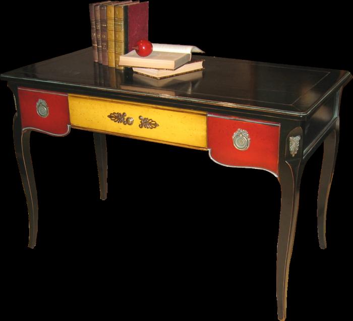 Bureau 3 tiroirs bureaux labar re les meubles de navarre for Meuble de bureau a tiroirs